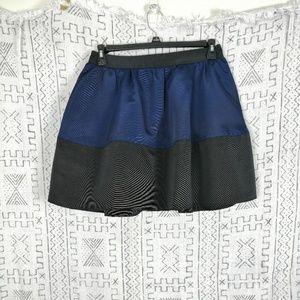 4/$30 Express Navy Black Color Block Circle Skirt